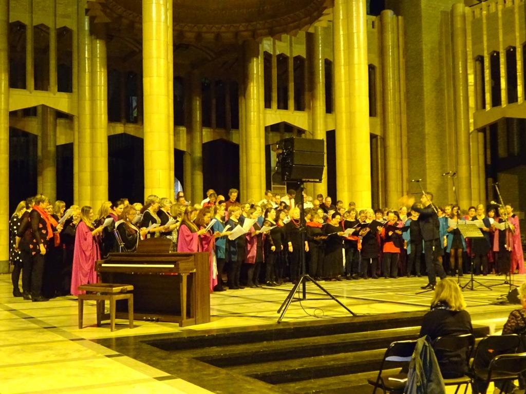 Basilique de Koekelberg - les 4 chorales réunies